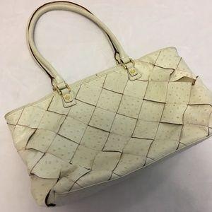Antonio Melani Ostrich Woven Leather Purse